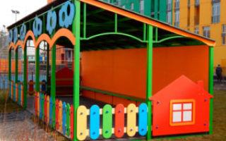 Как построить теневой навес для детского сада