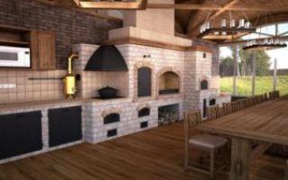 Летние кухни с барбекю — проекты