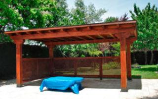 Как сделать навес с односкатной крышей