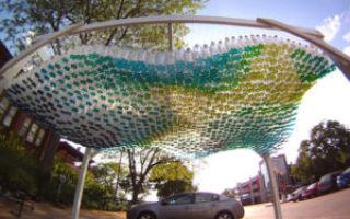 Как сделать навес из пластиковых бутылок