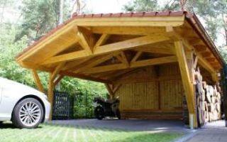 Деревянный навес для автомобиля своими руками