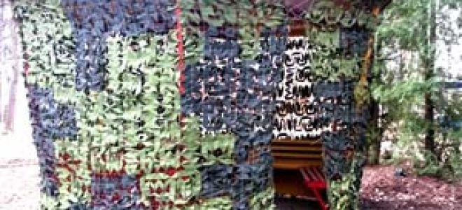 Комуфляжная и маскировочная сетка для беседки — обзор