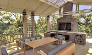 Отделка и ремонт летней кухни в частном доме
