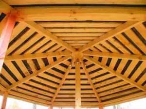 Крыша для беседки из дерева