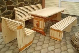 Мебель для беседки из дерева