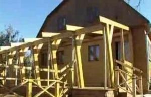 Каркас веранду, пристроенной к дому