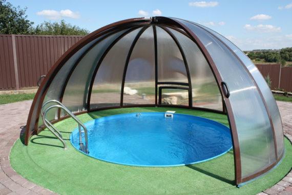 круглый навес для бассейна