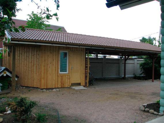 дом и баня с навесом