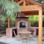 Как построить печь или камин под навесом
