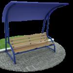 Как сделать скамейку садовую с навесом