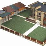 Чертежи и проекты домов с навесом для машины