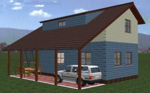 Проекты домов с навесом