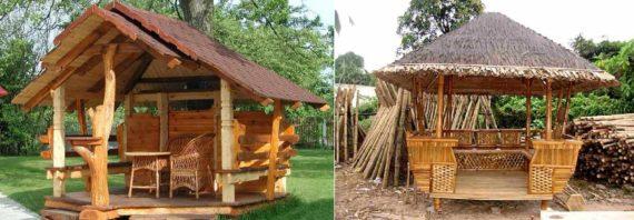 деревянные навесы-беседки