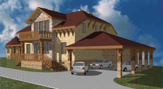 проект дома и хозблока