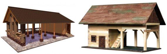 деревянные навесы