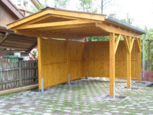 деревянный навес