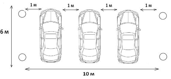расчет площадки авто навеса