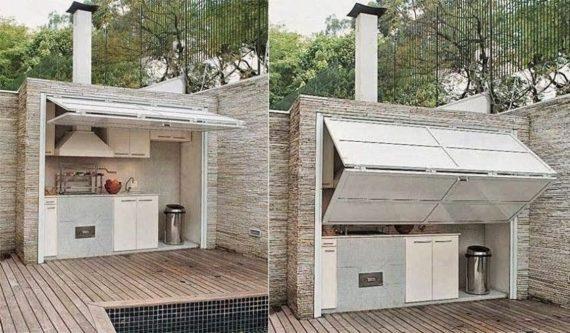 оригинальный дизайн летней кухни