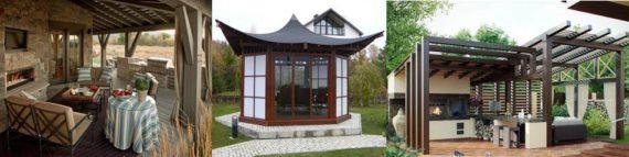 постройки в разных стилях