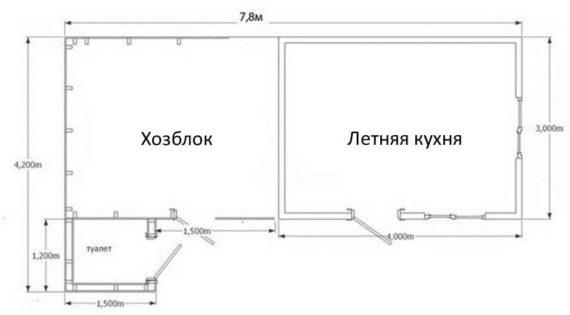 простой проект летней кухни_2
